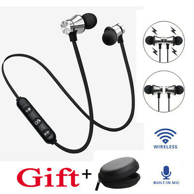 Bluetooth 4.2 Magnet Wireless In-Ear Sports Earphone Headset Headphone +1PC Bag