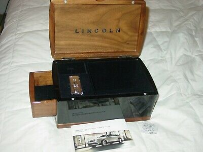 Lincoln Car Motor Storage Chest Jewelry Box Walnut Wood Cabinet Limited Edition