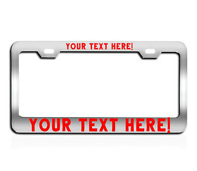 CUSTOM Personalized BLACK metal License Plate Frame Tag Cover Car Auto engraved