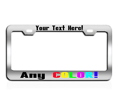 REFLECTIVE MOTORCYCLE  CUSTOM TEXT PERSONALIZED CUSTOMIZED License Plate Frame
