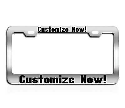 CUSTOM PERSONALIZED BLACK WITH RED LETTERS customized License Plate Frame
