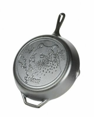 Lodge Wildlife Series Cast Iron Skillet with Bear Scene, 12 in, L10SKWLBR