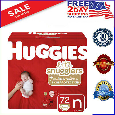 Huggies Snug & Dry Baby Diapers, Size Newborn (fits up to 10 lb.), 132 Count