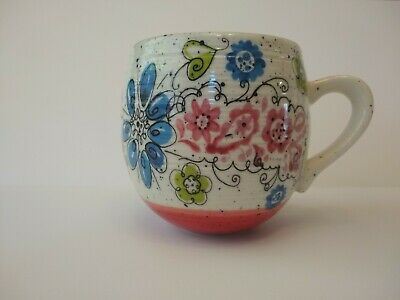 Biscuit for ANTHROPOLOGY Coffee Mug Tea Cup Floral Flower Design Anthropology
