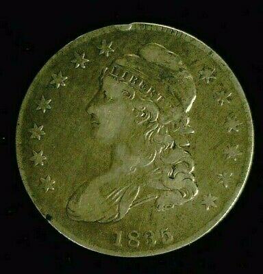 1835 CAPPED BUST SILVER HALF 50c    (8191)