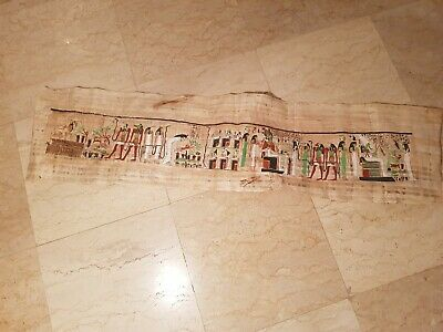 Rare Antique Ancient Egyptian Papyrus 125cm Under World Singers Khufu2589–2566BC
