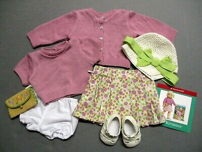 American Girl Doll Kit MEET Outfit #1 Sweater Skirt Hat Shoes Panties *COMPLETE