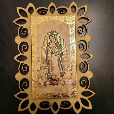 Virgen de Guadalupe / Our Lady of Guadalupe  Picture in wooden