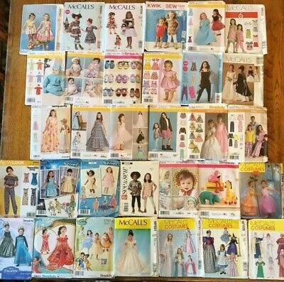 HUGE Kids Sewing Pattern Lot Girl Baby Toddler ALL UNCUT McCall Simplicity