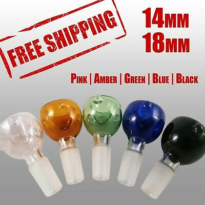 14mm Bowl & 18mm Bowl - Male | Pink Amber Green Blue Black Colors Available
