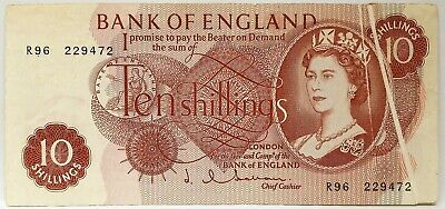 Great Britain 1962 ... 10 Shillings ... Collector's Misprint . Obstruction Note