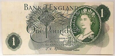 Great Britain 1970 . 1 Pound .Collectors Misprint Missing Both Serials Note Rare