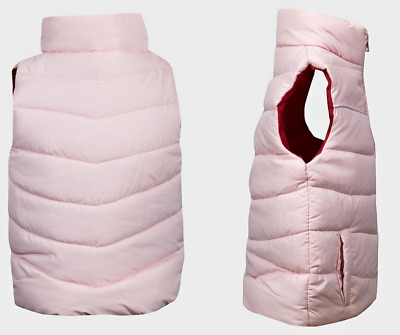 Pink Padded Lined Girls Toddler Gilet High Neck Zip-Through Body Warmer 1-2yrs