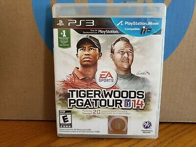 Tiger Woods PGA Tour 14 Sony PlayStation 3 PS3 CASE & MANUAL ONLY