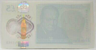 Great Britain 2015 . 5 Pounds .Collector's Misprint . Missing Print On Reverse