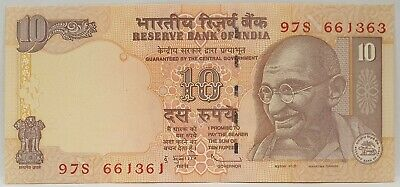 India 1996 .10 Rupees .Collector's Misprint . Mis-Matched Serials . Scarce . Unc