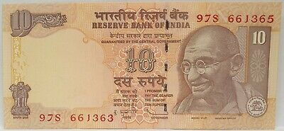 India 1996 ... 10 Rupees ... Misprint/ Error   Mis-Matched Serials