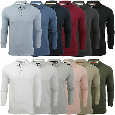 Brave Soul Mens Lincoln Long Sleeve Cotton Collared Top New Size S-XXL