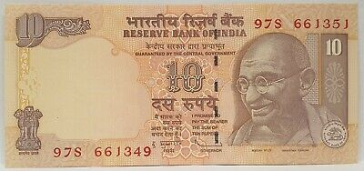 India 2005 ... 10 Rupees ... Misprint/ Error  Note ...  Mis-Matched Serials