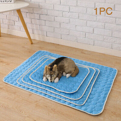Sleeping Indoor Blanket Non-toxic Pet Cat Soft Dog Cooling Mat Summer Chilly