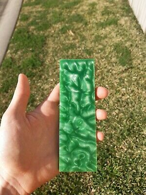 Green Resin Knife Handles/Scales (2 pieces x150×50×10mm) Mitch Made
