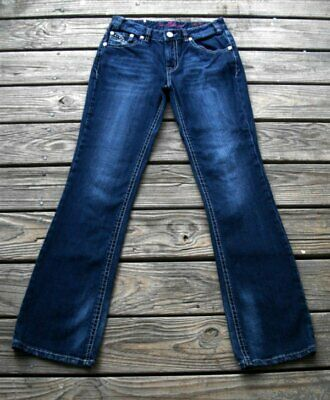 W6-3388 Rock And Roll Cowgirl Juniors Low Rise Rival Jean NEW