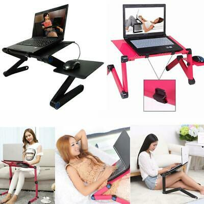 360° Adjustable Folding Laptop Table Lap Desk Bed Computer-Tray Mouse Stand FR