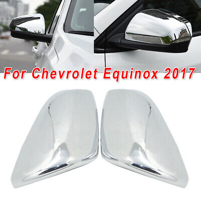 Pair Chrome ABS Side Mirror Cover Caps Fit For Chevrolet Equinox 2018-2019