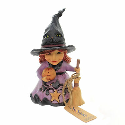 Jim Shore WELCOME THE MAGIC Polyresin Halloween Witch 6004331