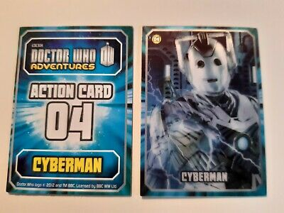 Doctor Who - Adventures Action card 04  Cyberman -3D Holographic Trading Card