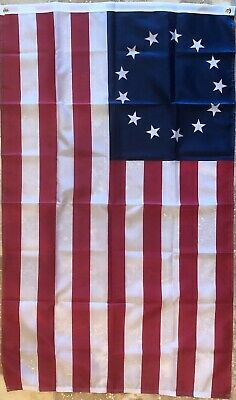 Betsy Ross Flag 150D Nylon Grommets Patriotic American USA Stars Stripes 4x6' FT