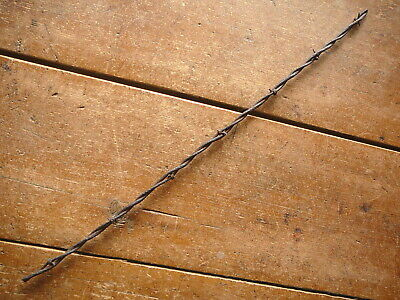 BAKERS FLAT BARB on ROUND & VERY LARGE OVAL LINES  - ANTIQUE BARBED BARB WIRE