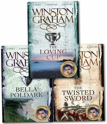 Winston Graham Poldark Series Trilogy Books 10,11,12 Collection 3 Books Set PB