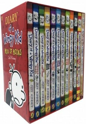 Diary of a Wimpy Kid Collection 12 Books Box Set by Jeff Kinney PB NEW
