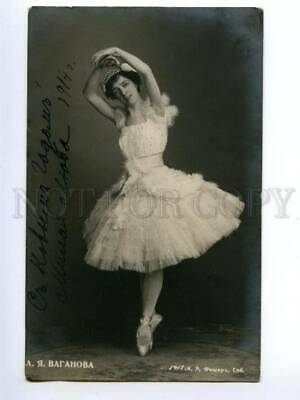139957 VAGANOVA Russian BALLET DANCER vintage PHOTO AUTOGRAPH