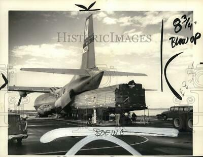 1966 Press Photo US Air Force Minuteman ballistic missile arrives, Montana
