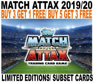Match Attax 2019/20 19/20 Limited Edition & Subset Cards - Champions League