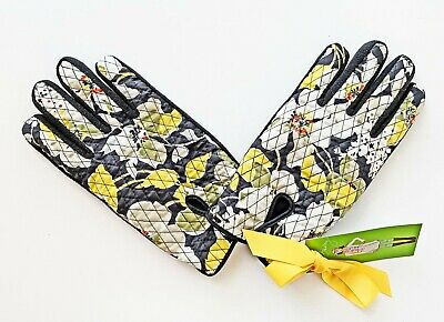 """Vera Bradley  """"be cozy"""" Quilted Fleece Gloves DOGWOOD M-L NWT"""