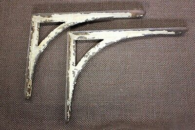 "2 Shelf support Brackets 6 X 8"" industrial cast iron old rustic vintage shabby"