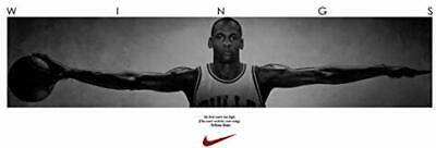 Print Michael Jordan Poster Famous Wings 72 x 24 6ft x 2ft Rare HOT New