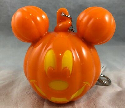 Disney Parks Halloween Pumpkin Mickey Mouse Jack o Lantern Keychain Light Up