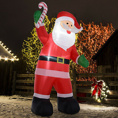 HOMCOM 8' H Christmas Holiday Yard Inflatable Outdoor, Light Up LED Airblown