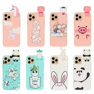 10pcs/lot 3D Cute Cartoon Doll Silicone Soft Phone Case For iPhone 11 Pro Max