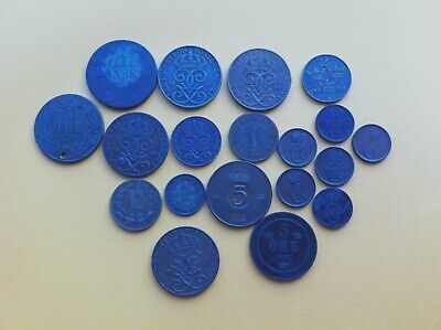 Collection of 19th - 20th C Scandinavian Coins Sweden Norway Denmark