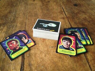1976 TOPPS - Star Trek - Trading Cards - (87 CARDS & STICKERS) - Vintage