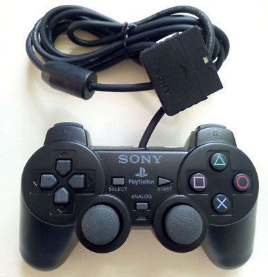 New PS2 Sony Playstation 2 Dualshock Wired Controller SCPH-10010 Black