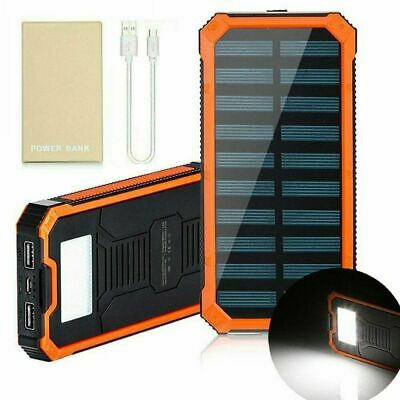500000mAh New Solar Power Bank Dual USB Backup Battery Charger For Mobile Phone