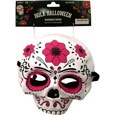 Halloween Day of The Dead DOD Bandido Skull Mask Skeleton Head Costume Accessory