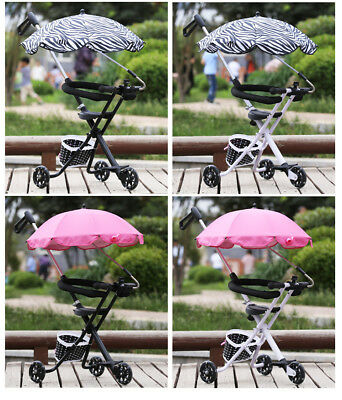 Baby Stroller Pushchair Umbrella Sun And Rain Protection Shade Canopy With Clip