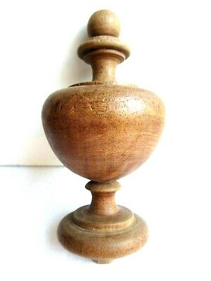 Stair ball, spinning top form baluster turned wood, 1900s
